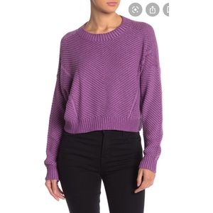 NEW Abound knit pullover crop sweater in lavender